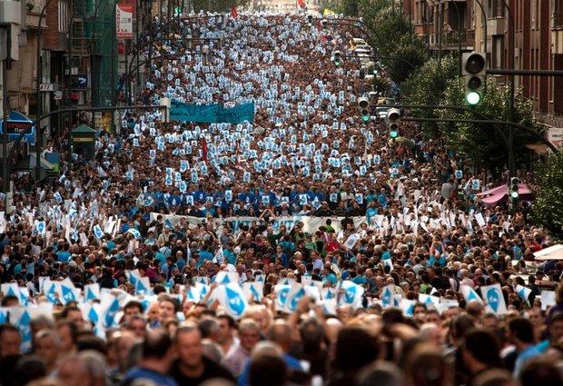 Spain ETA supporters